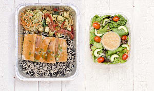 Teriyaki Salmon with Whole Grain Rice Medley and Roasted Vegetables- Code#: LLK0003