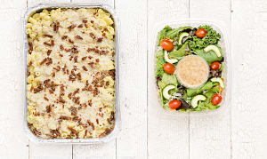 Vegan Mac and Cheese & Salad (Frozen)- Code#: LLK107