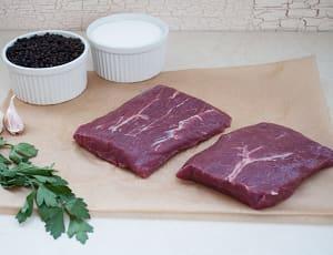 Canadian Rangeland Bison Flat Iron Steaks (Frozen)- Code#: MP824