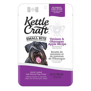 Venison & Okanagan Apple Small Bite Dog Treats- Code#: PT034