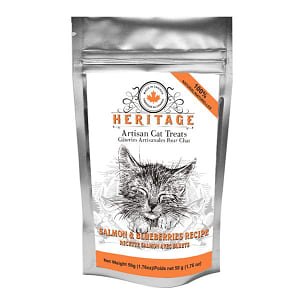 Heritage Artisan Cat Treats - Salmon & Blueberries Recipe- Code#: PT520