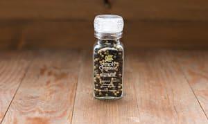 Organic Peppercorn Blend in Glass Bottle w. Grinder- Code#: SA0146