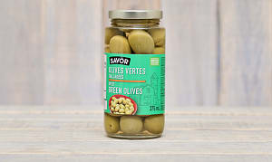 Colossal Halkidiki Green Cracked Olives- Code#: SA0263