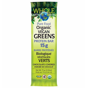 Organic Whole Earth & Sea Greens 15g Protein Bar- Code#: VT1125