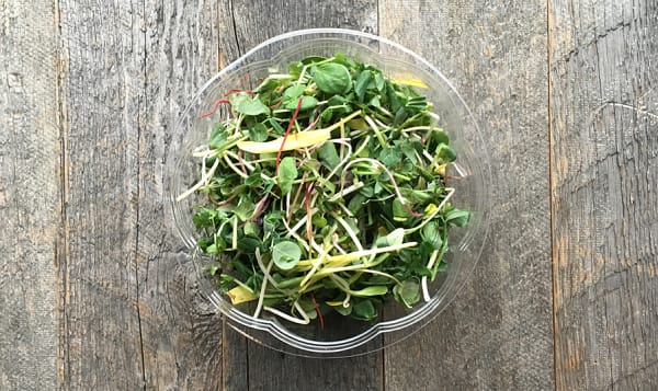 Local Organic Salad Mix, Gourmet - May Sub Peashoots