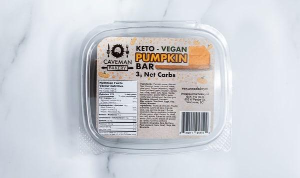 Keto Vegan Pumpkin Bar