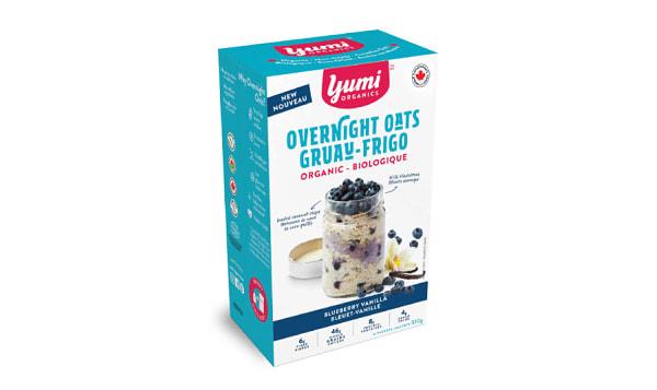 Organic Blueberry Vanilla Overnight Oats