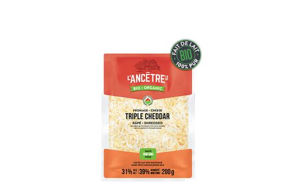 Organic Shred Triple Cheddar Blend