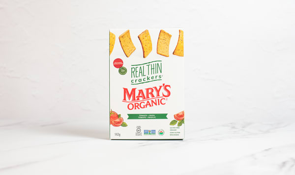Organic REAL THIN, Tomato + Basil