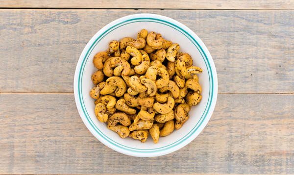 Lime and Pepper Cashews