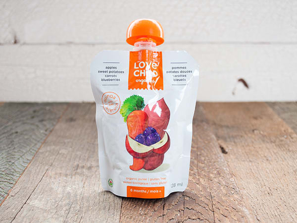 Organic Super Blends Sweet Potato, Carrot, Apple & Blueberry