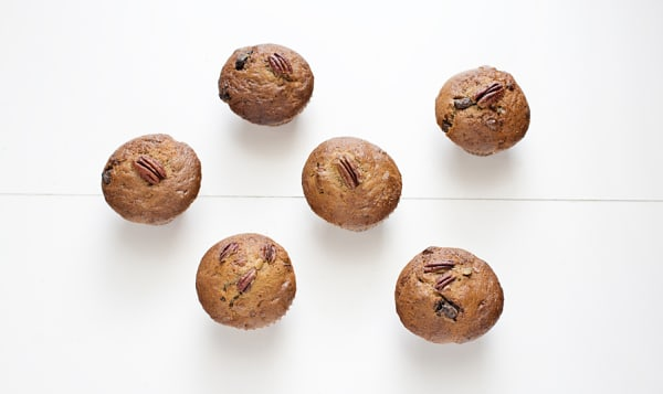Chocolate Banana Pecan Muffin