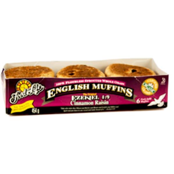 Organic Sprouted Cinnamon Raisin English Muffins (Frozen)