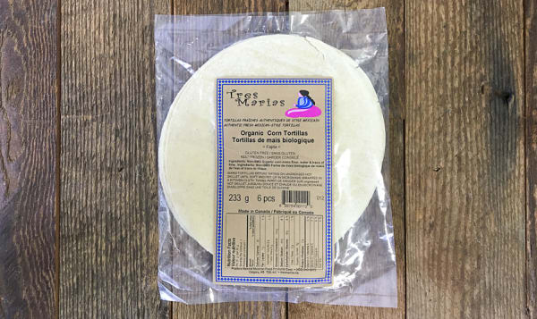 Organic 6  Yellow Corn Tortillas (Frozen)