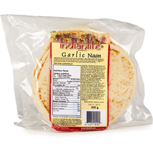 Organic Garlic Naan