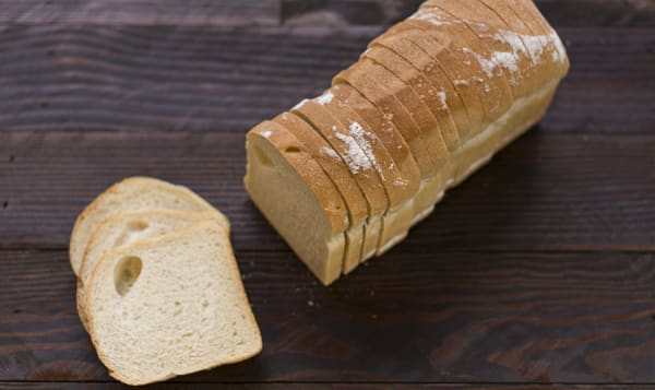 Sourdough Pan Loaf, Sliced