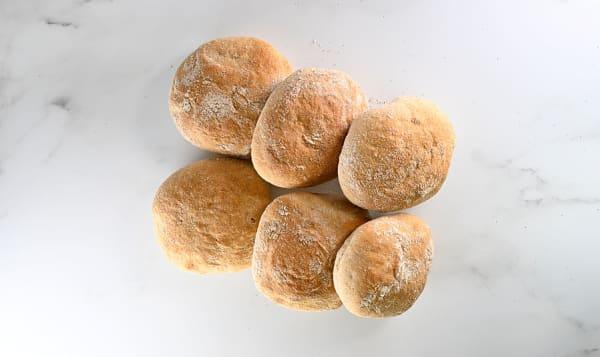Rye Sourdough Buns - 6pac