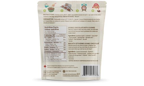 Organic U Bake Keto Cookies - Double Chocolate