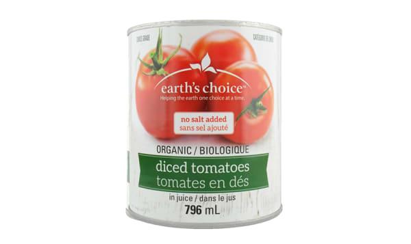 Organic Diced Tomatoes, No Salt
