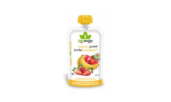 Organic Apple Strawberry Banana Puree