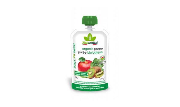 Organic Apple Kiwi Spinach Puree