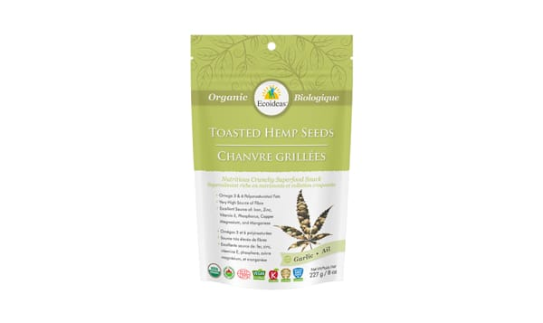 Organic Toasted Hemp Seeds -  Garlic