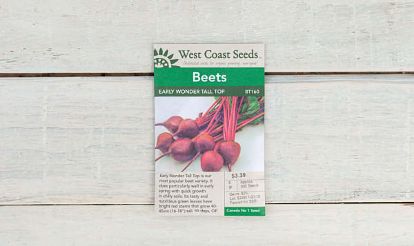 Early Wonder  Tall Top Beet Seeds
