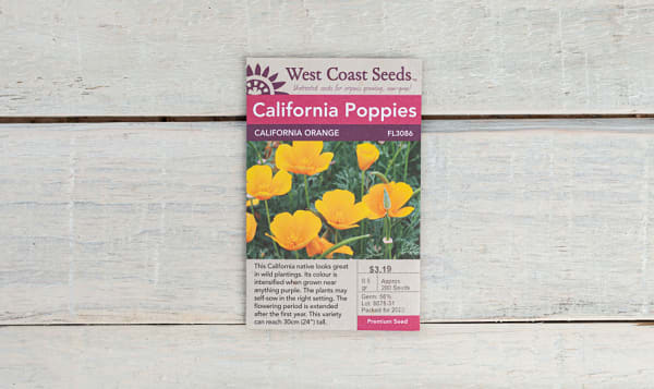 California Orange  Poppy Seeds