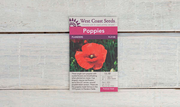 Flanders  Poppy Seeds