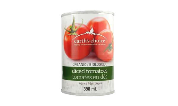 Organic Earth's Choice Diced Tomatoes No Salt