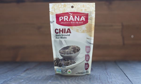 Organic Black Chia Seeds - Ground