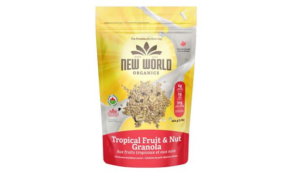 Organic Tropical Fruit Nut Granola
