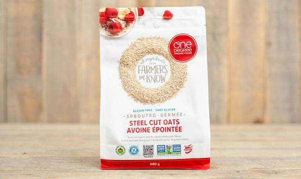 Organic Sprouted Steel Cut Oats