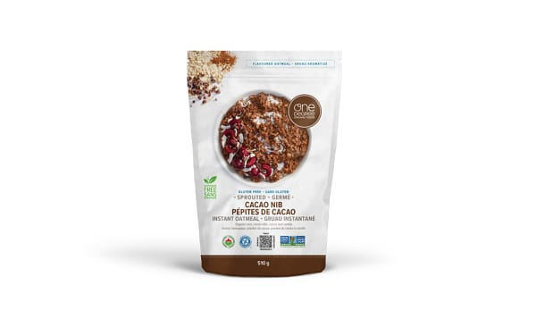 Organic Sprouted Oatmeal, Cacao Nib