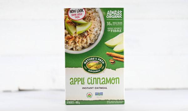 Organic Instant Oatmeal Apple Cinnamon