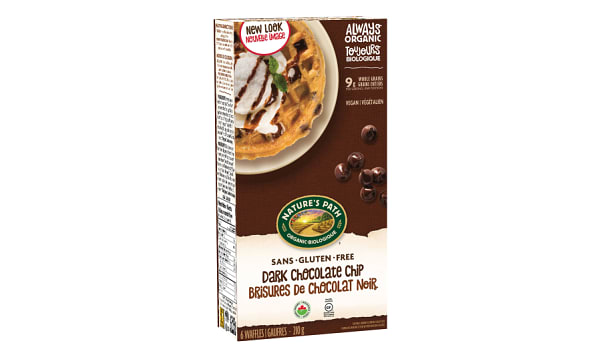 Organic Dark Chocolate Chip Waffles (Frozen)