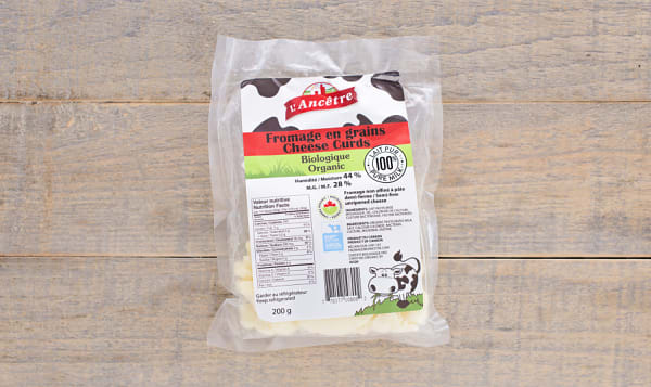Organic Cheese Curds - semi firm unripened cheese