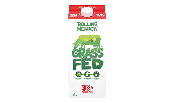 3.8%  Grass Fed Milk