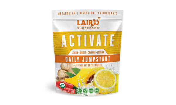 Organic ACTIVATE Daily Jumpstart - Lemon Ginger Cayenne