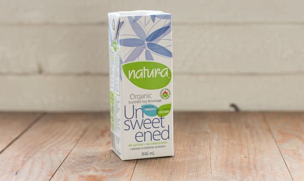 Organic Unsweetened Enriched Soy Beverage