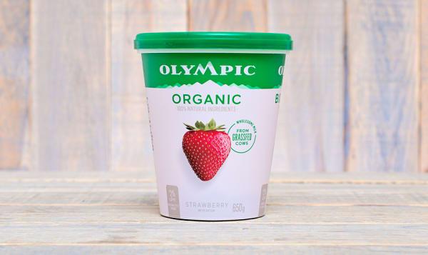 Organic Strawberry Yogurt - 2.9% MF