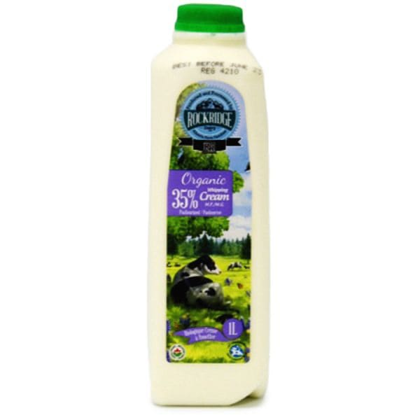 Organic Jersey Cow Whipping Cream