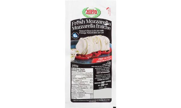 Fresh Mozzarella, Sliced