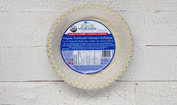 Organic Traditional Pie Shells (Frozen)