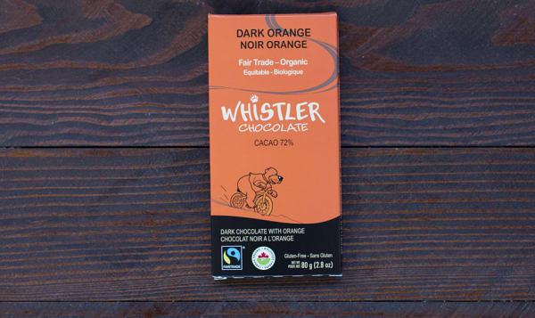 Organic Dark Orange Chocolate Bar