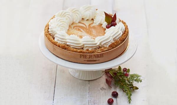 Pumpkin Candied Ginger Cheesecake Pie