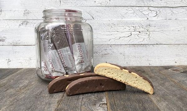 Artisan Hand-Dipped Almond Milk Chocolate Biscotti