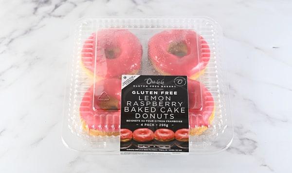 Lemon Raspberry Baked Cake Donuts (Frozen)