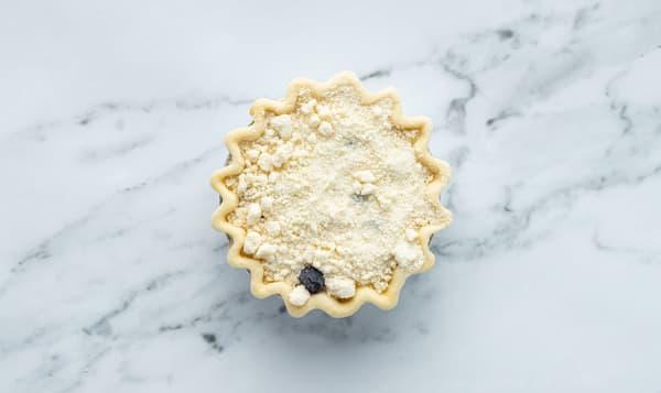 Blueberry Goat Cheese Crumble Pie 5  (Frozen)