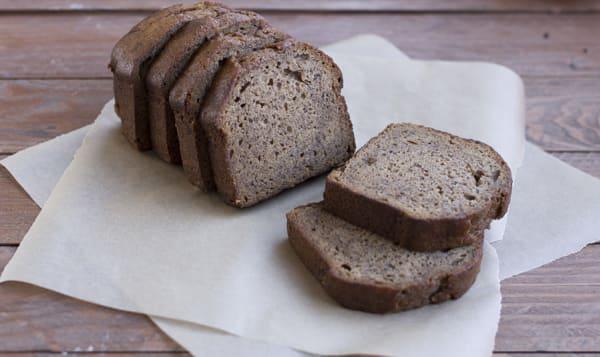 Banana Bread Loaf - Sliced